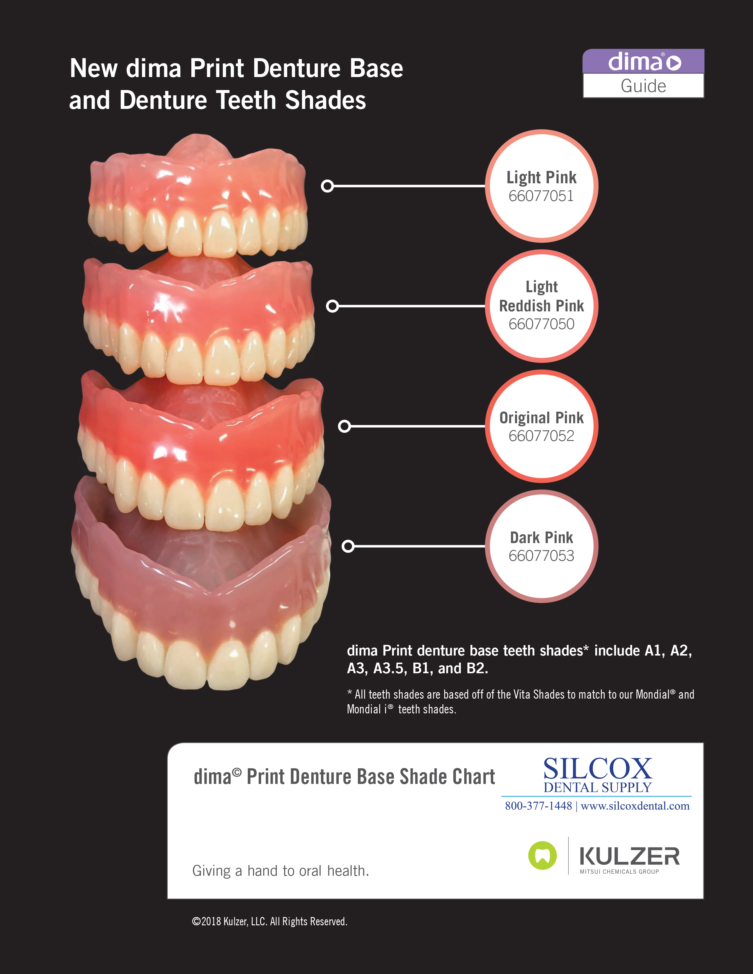dima print denture base shade guide