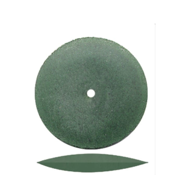 100 Green K/E Rubber Wheel