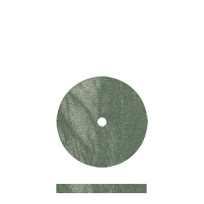 100 Med Green Rubber Disc 5/8