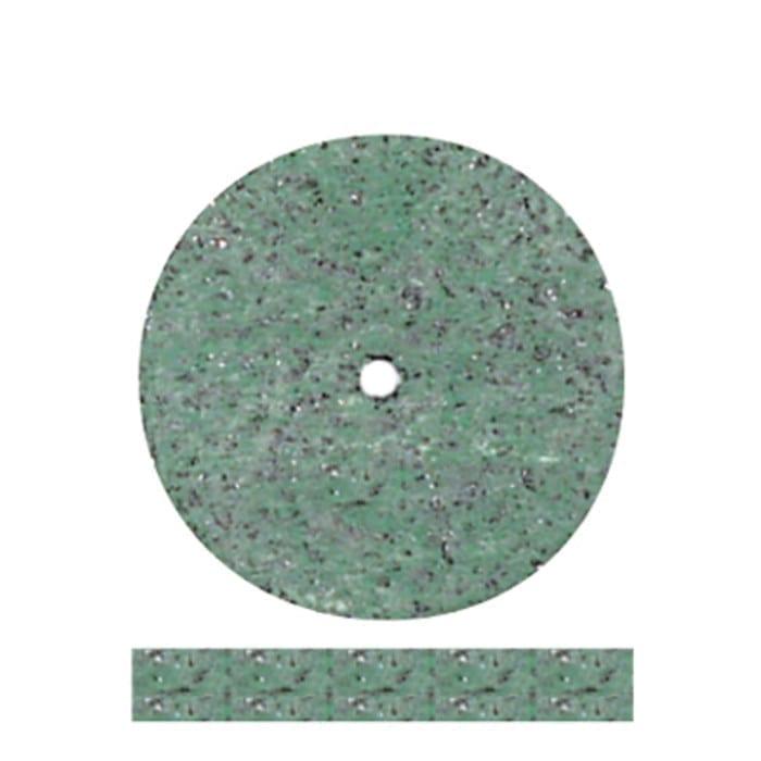 100 Green Rubber Wheels #5112