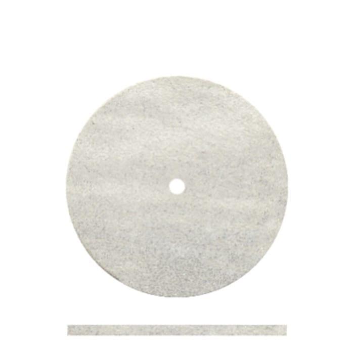 100 White Rubber Wheels 7/8 x .042