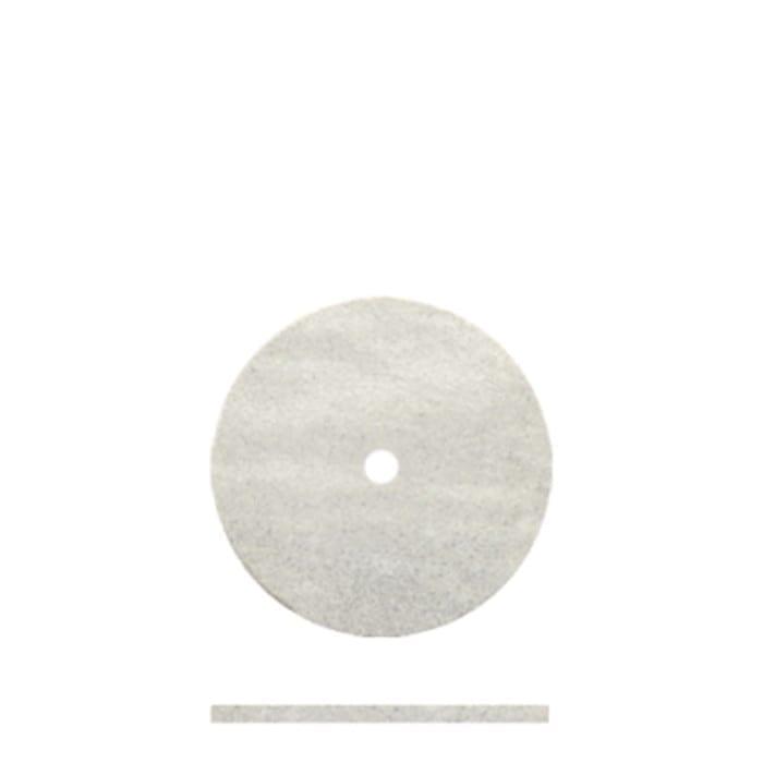100 White Rubber Wheel 5/8  x .032