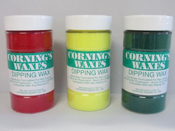 Dip Wax Corning Green Jar