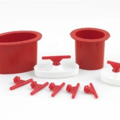 (6) size E sprue base formers 90g