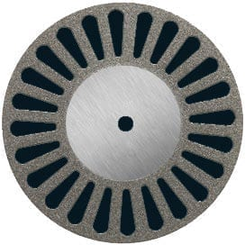 Diamond Disc 22mm medium perforated MOUNTED
