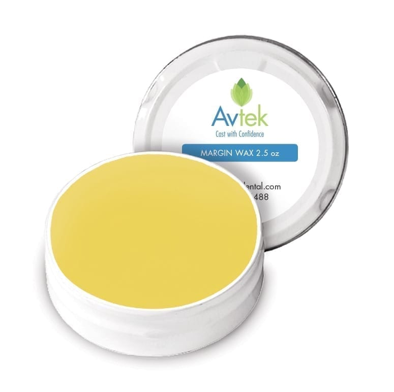 Avtek high-chroma margin wax YELLOW 2.5 oz tin