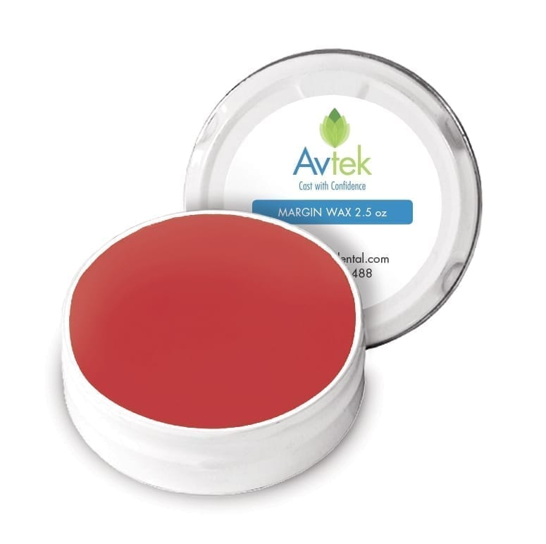 Avtek high-chroma margin wax RED 2.5 oz tin