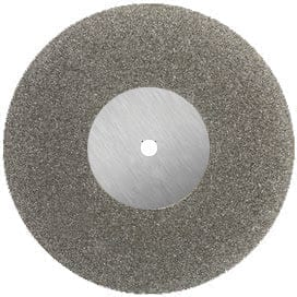 Diamond disc double sided FULL COVERAGE medium grit 22mm mounted