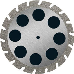 Diamond Coated Disc 40mm medium grit. For die Trimming.  MOUNTED