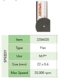 100pk 7/8 inch flat Double Sided speedy disks