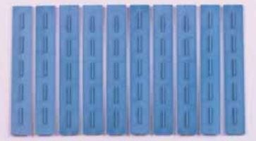 Justi Facing Backings Blue Plastic Pkg/50