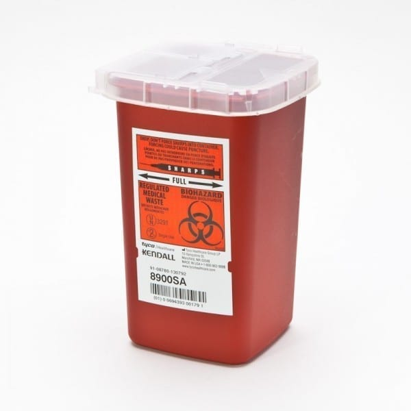 1qt Sharps Container Red