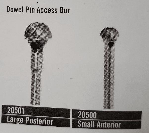 Dowel Pin Access Bur SMALL